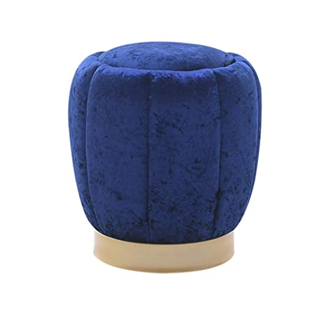 Strange Amazon Com Yuwj Velvet Comfort Round Ottoman Stool With Caraccident5 Cool Chair Designs And Ideas Caraccident5Info