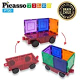 PicassoTiles 2 Piece Car Truck Construction Kit Toy