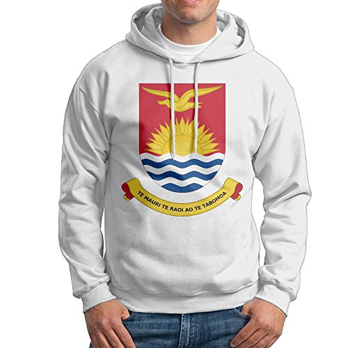 X-JUSEN Men's Coat Of Arms Of Kiribati Hoodies Hooded Sweatshirt Pullover Sweater, Crew Neck Hooded Coat - Mens Hoodie Kiribati