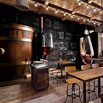 Papier Peint Personnalise Style Europeen Retro Brique De Vin Rouge