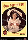1959 Topps # 247 Don Ferrarese Cleveland Indians (Baseball Card) Dean's Cards 5 - EX Indians
