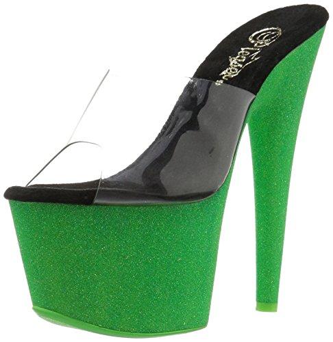 Green 701uvg Pleaser Adore Donna Sandali Clr neon Glitter 5T7Hzc76W