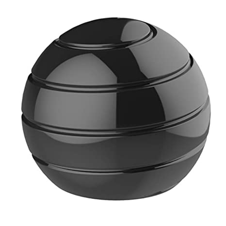 Black, 45mm,Black Finger Gyroscope Kinetic Optical Adults Illusion Flowing Rotating Gyro Anti Stress Spherical Kids Decompression Toy Metal Desk Ball Spinning Tops