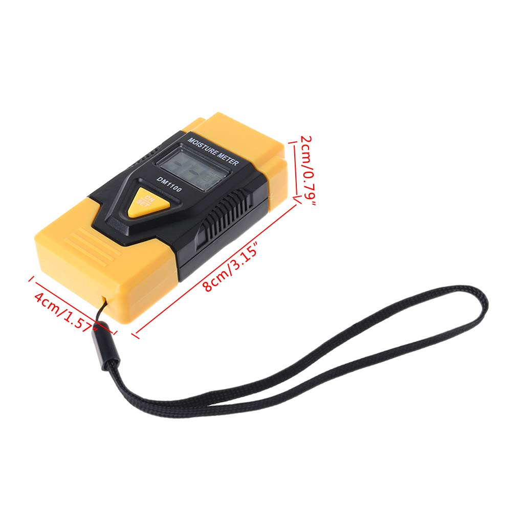 DM1100 3in1 Digital Wood Moisture Meter Sawn Timber Humidity Tester Thermometer by YDZN