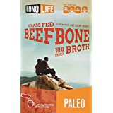 LonoLife Grass Fed Beef Bone Broth 10g Protein - 4 Count Stick Packs, 0.13 lb