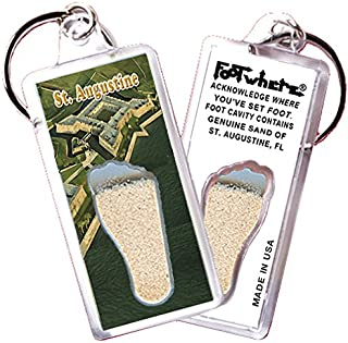 "product image for St. Augustine ""FootWhere"" Key Chain. Made in USA (StA102 - San Marcos)"