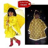 iGuardQ Reflective Raincoat Safety Waterproof Rain Jacket for Kids Girls Boys