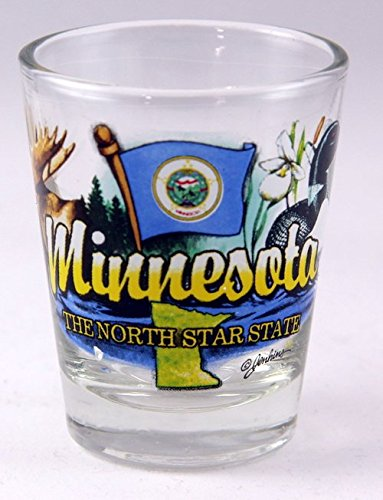 (Minnesota North Star State State Elements Shot Glass)