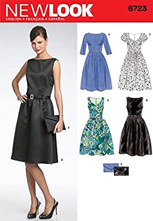 New Look 6723 Schnittmuster Kleid, Größen 36 bis 46: Amazon.de ...