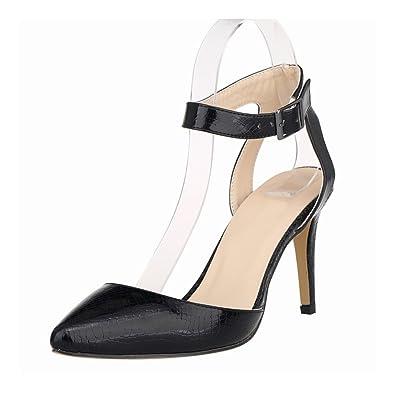 Zhuhaixmy Damen Krokodil-Korn-Muster 11CM High Heels Stilettos Schuhe vWB7F