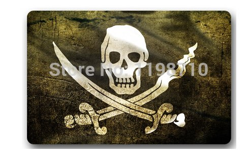Pirate Flag Bathroom Mats