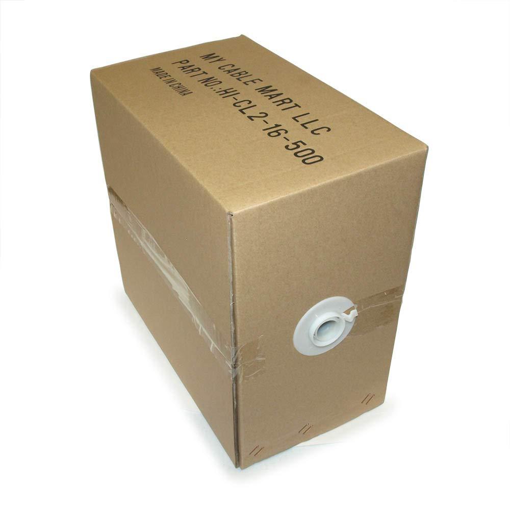 【送料0円】 MyCableMart 500フィート スピーカーワイヤー 18AWG B01IMJQHXY 銅 MyCableMart 壁レート 500フィート/CL2 PVCアウタージャケット付き B01IMJQHXY, 向日市:aa9aa732 --- mcrisartesanato.com.br