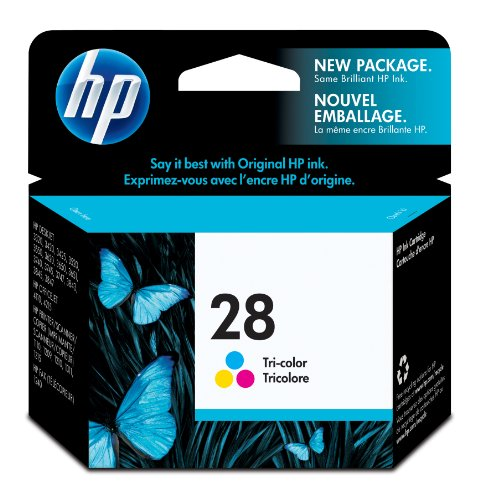 C8728a Colour - HP 28 Tri-color Ink Cartridge (C8728AN) for HP DeskJet 5650 3320 3420 5150 3650 3550 3520 5655 3745 3645 3845 3322 3647 HP OfficeJet 4110 6110 4215 5605 HP PSC 1110 1311 HP Fax 1240