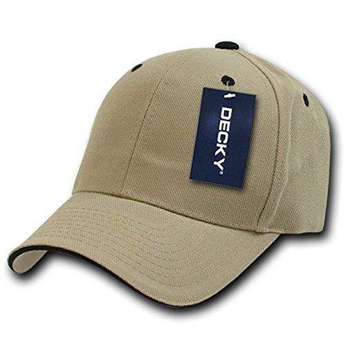 - DECKY Sandwich Visor Baseball Cap, Khaki/Black