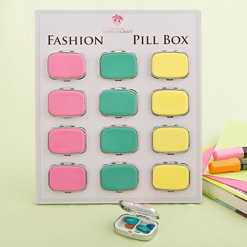 96 Fun Vibrant Colored Pill Boxes by Fashioncraft