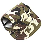 SODIAL(R) Dog Hat With Ear Holes Oxford cloth Baseball Cap for Outdoor Accessories Small Dog Walking Pet Products Camouflage S