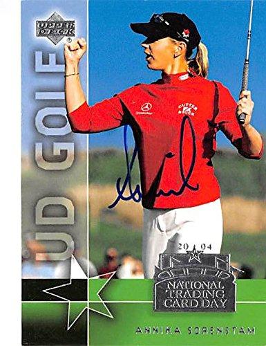 Annika Sorenstam autographed trading card (LPGA Ladies Golfer) 2004 Upper Deck #UD1 NTCD