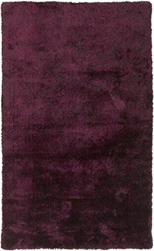 UPC 093422919470, 2' x 3' Sencillo Pintar Solid Eggplant Purple Super Soft Hand Woven Area Throw Rug
