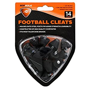 Sof Sole Nylon Replacement Cleat for Football Shoes, 1/2-Inch