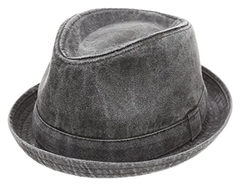 Washed Cotton Casual Vintage Fedora product image