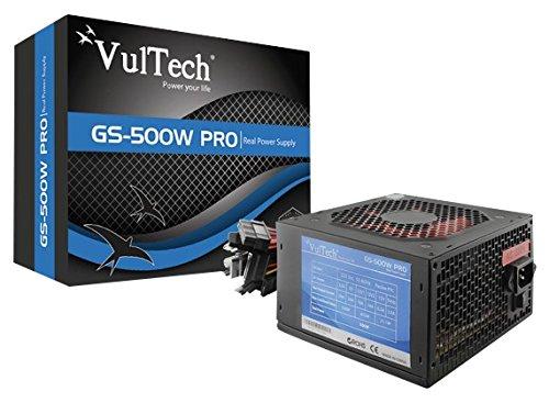 35 opinioni per VulTech GS-500W PRO REV 2.1 Alimentatore, 500 W, Retail 80+, Nero