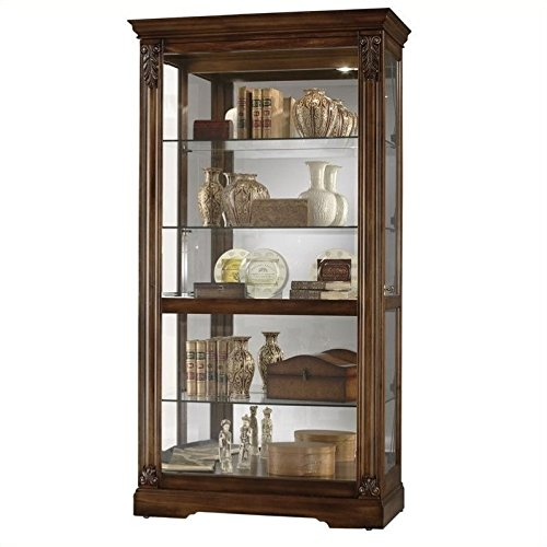 BOWERY HILL Curio Cabinet in Tuscany Cherry (Tuscany Cherry Cabinet)