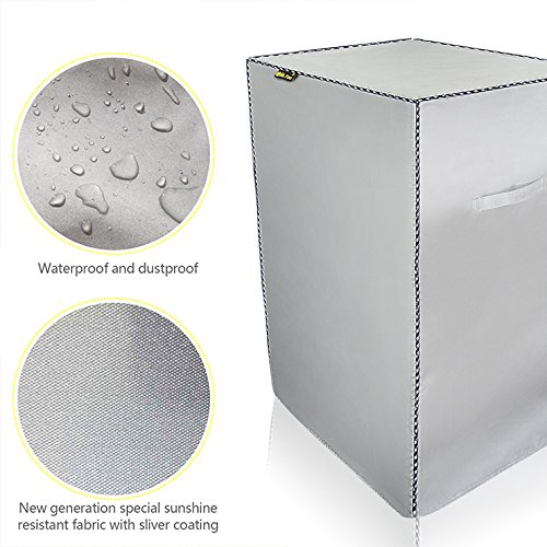 """Mr.You Waterproof Smoker Cover,Grill Cover,Silver shading material,Fits Masterbuilt 30 Inch Electric Smoker(21""""W x 16""""D x 39""""H) For Sale"""