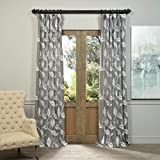 HPD HALF PRICE DRAPES FELCH-SLWE4123B-96 Embroidered Faux Linen Sheer Curtain, Willow Grey Review