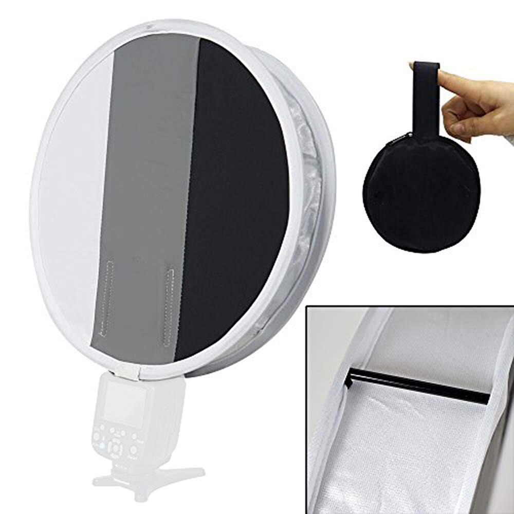 FOTOCREAT 12''(30cm) White Balance Round Portable Softbox 18% Gray Card Flash Diffuser for Nikon/Canon/Sony/YongNuo/Bower/Godox/Metz/Vivitar/Sunpack Speedlite by FOTOCREAT