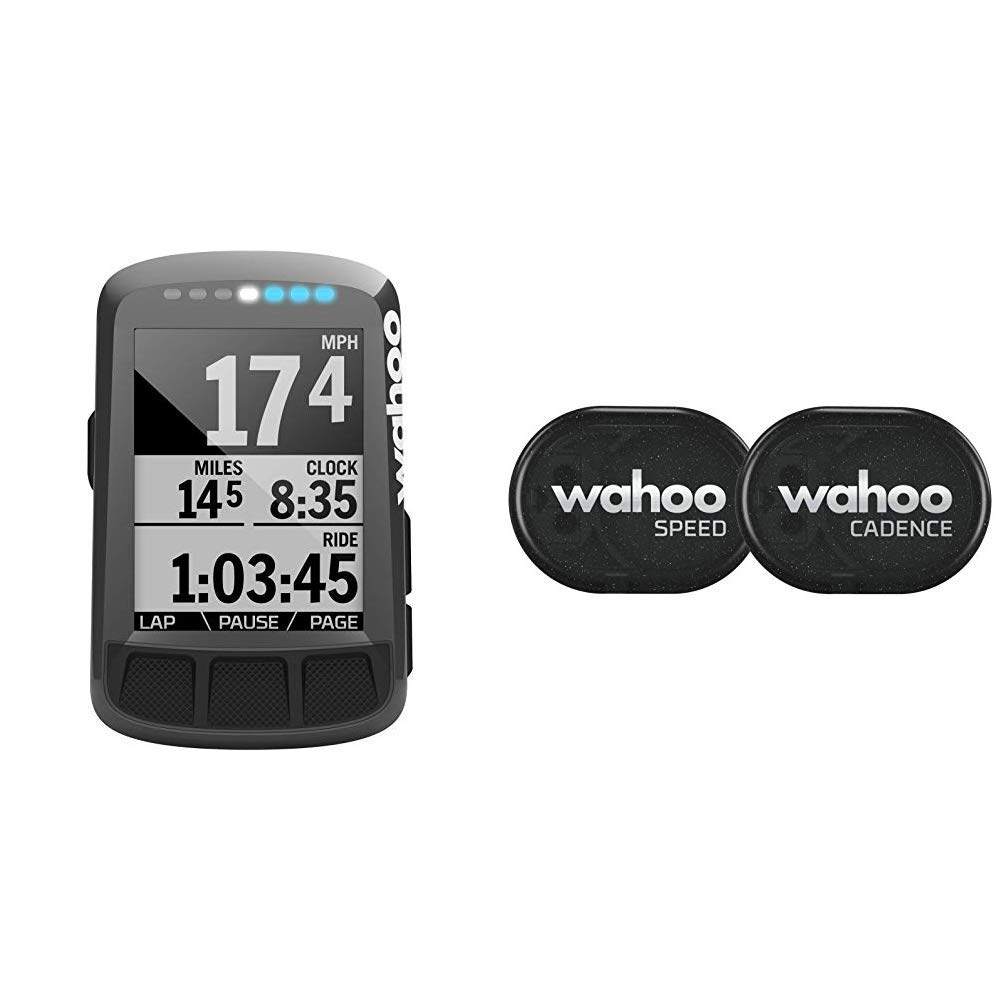 und Trittfrequenzsensor Bluetooth//ANT+ Wahoo ELEMNT Bolt GPS-Fahrradcomputer /& RPM Geschwindigkeits