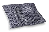 KAVKA DESIGNS Square Peg Floor Pillow, (Blue/White) - ENCOMPASS Collection, Size: 23x23x8 - (TELAVC010FPS23)