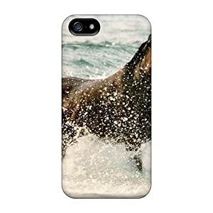CADike Case Cover For Iphone 5/5s - Retailer Packaging Water Horse Protective Case