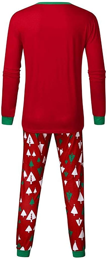 Pantaloni Set Casa-Padre Pigiama Set Jimmackey Pigiama Famiglia Natale Indumenti da Notte Abiti Natalizi Tuta Elegante 2PC Uomo Donna Bambini T-Shirt Albero Natale Tops