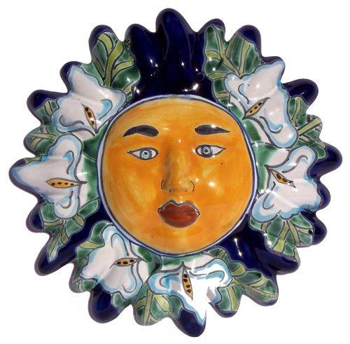 (Fine Crafts Imports Lily Small Talavera Ceramic Sun Face)