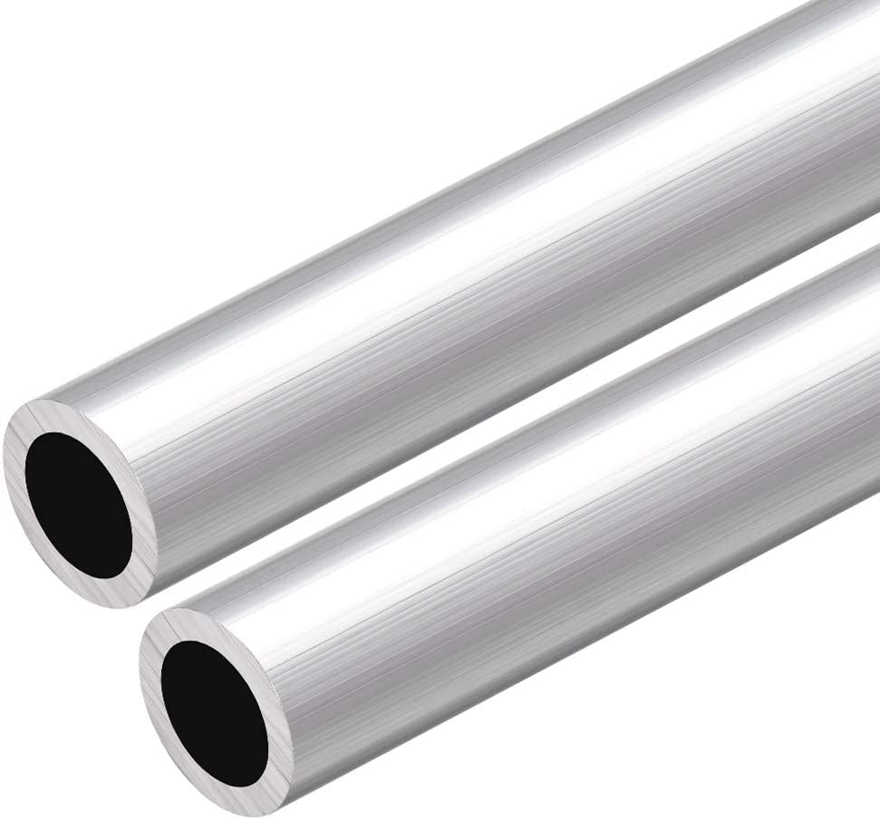 sourcing map 6063 Aluminum Round Tube 300mm Length 16mm OD 7mm Inner Dia Seamless Aluminum Straight Tubing 2 Pcs