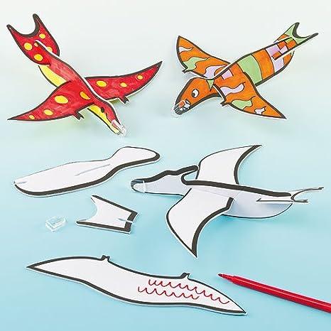 Baker Ross Planeadores De Dinosaurios Voladores 3 Diseños Variados