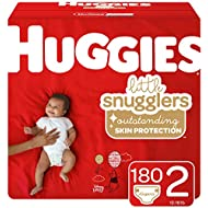 Huggies Little Snugglers Diapers, Size 2, 180 Count (Packaging May Vary)