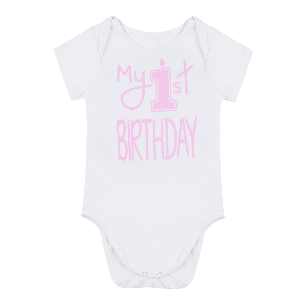 iiniim Infant Baby Boys Short Sleeves One-Piece Outfit My 1st Birthday Romper Bodysuit Jumpsuit Party Clothes