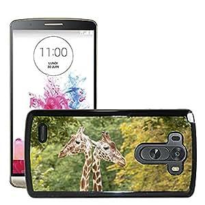 Hot Style Cell Phone PC Hard Case Cover // M00112986 Giraffes Neck Giraffe Neck Zoo // LG G3 VS985