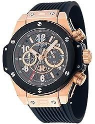 HUBOLER Mens Quartz Fashion Arder Wrist Watch Dial Black H-001
