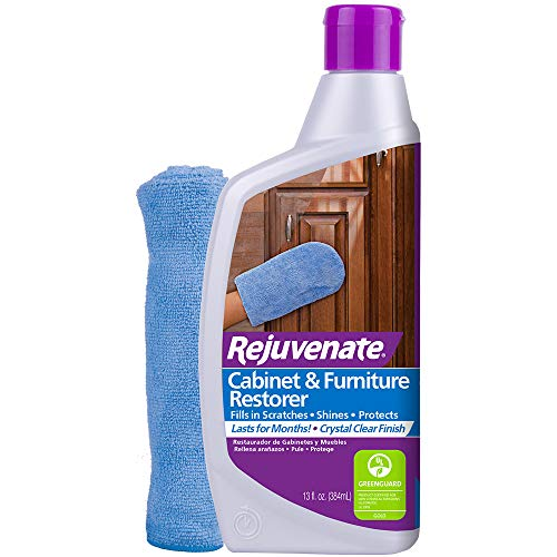 Rejuvenate Cabinet amp Furniture Restorer Fills in Scratches Seals and Protects Cabinetry Furniture Wall Paneling 13oz with Mitt