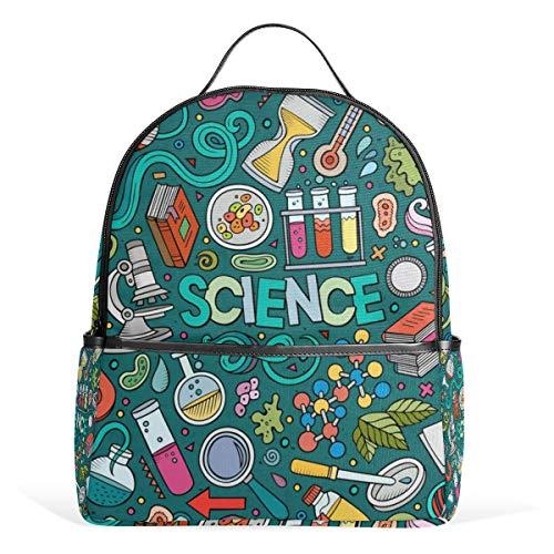 Auskid Science Theme Items Backpack School Bookbag for Girls Boys Kids