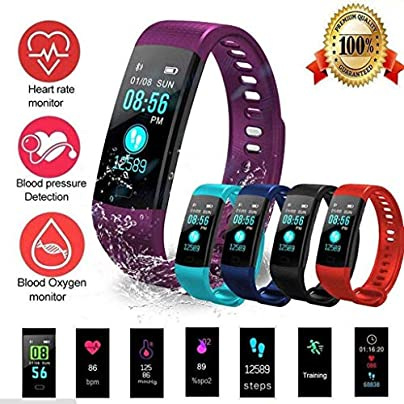 GOPG Fitness Tracker Smart Wristband Heart Rate Monitor Calorie Counter GPS Bluetooth IP67 Waterproof Pedometer Android Smartphone Estimated Price £22.18 -