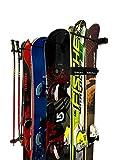 #3: StoreYourBoard Omni Ski and Snowboard Wall Storage Rack | Holds 10 Pairs of Skis | Ski Wall Mount Home & Garage Storage Hanger