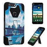 zte zmax phone cases new york - ZTE Blade Z MAX Case, ZTE Sequoia Case, DuroCase Hybrid Dual Layer Transforma Kickstand Bumper Case for ZTE Sequoia / ZTE Blade Z MAX / ZTE Z982 - (Brooklyn New York)