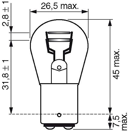 para luz de freno, intermitentes, matr/ícula, etc. Bosch 1987301055 Longlife Bombilla P21//5W