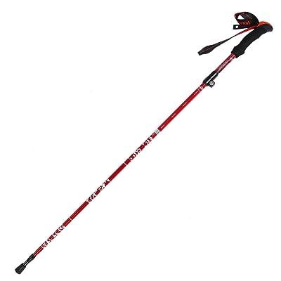 MUMA Bâtons de randonnée Rouge Alliage De Carbone Plier Alpenstock Très Léger ( taille : 95-110cm )