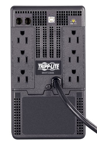 Tripp Lite SMART550USB 550VA 300W UPS Battery Back Up Tower AVR 120V USB RJ11, 6  Outlets by Tripp Lite (Image #1)