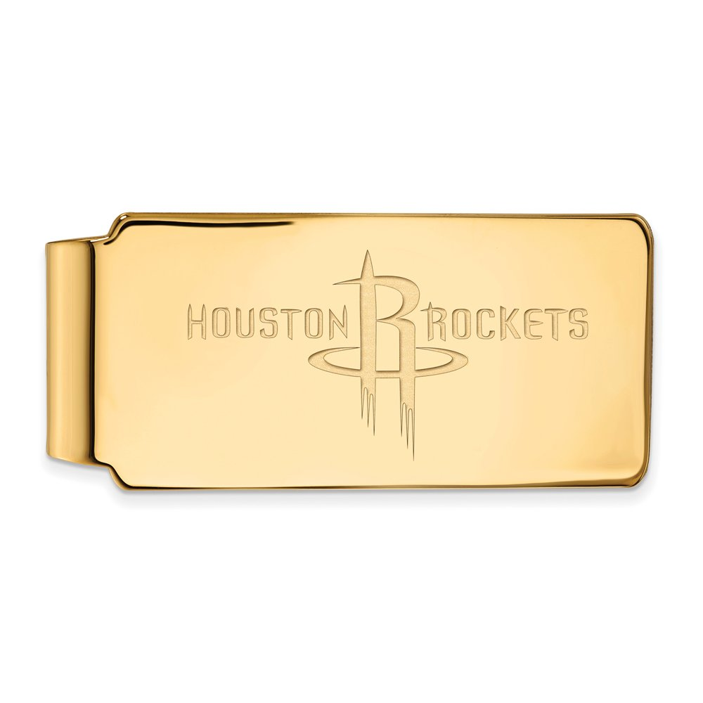 NBA Houston Rockets Money Clip in 10K Yellow Gold by LogoArt