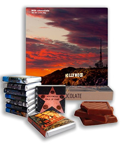 DA CHOCOLATE Candy Souvenir HOLLYWOOD Chocolate Gift Set 5x5in 1 box (Sunset Prime)